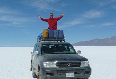 Zoutvlakte Uyuni Bolivia met rondreizen peru bolivia